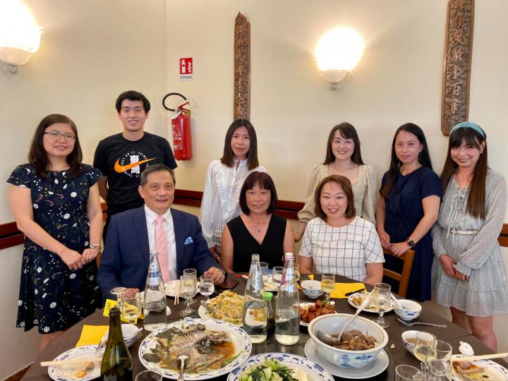 駐義大利大使李新穎參加威內托臺灣同鄉會端午節餐會並辦理行動領務