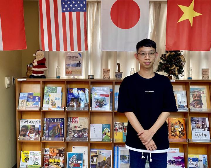 劉奕廷擔任替代役期間被派至菲律賓僑校,為該校第一位臺灣籍華語教師。(廖蔚尹/大紀元)