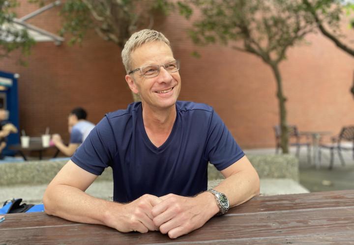 德國的Thomas表示,台灣有很多好的傳統文化可以學習。(廖蔚尹/大紀元)
