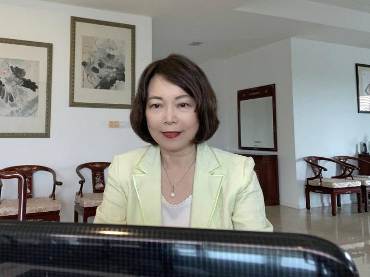 洪大使慧珠主持馬來西亞地區急難及關懷救助工作線上會議並致詞