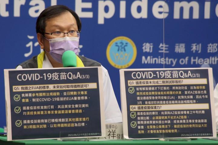 指揮中心發言人莊人祥表示,建議染疫康復後6個月可施打武漢肺炎疫苗,體內產生抗體,可以更加強保護力
