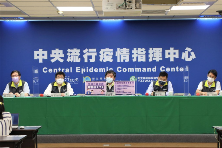 Wednesday's COVID-19 press briefing. Photo courtesy of the CECC