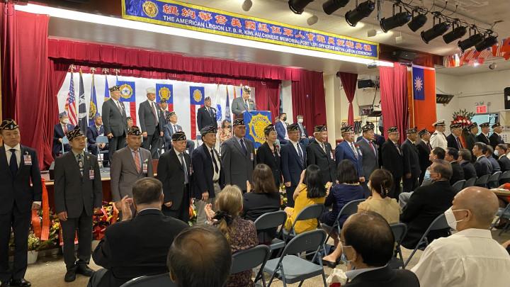 退伍軍人會職員宣誓就職。