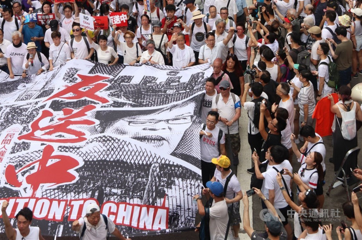 The anti-extradition law march in Hong Kong in 2019. CNA photo June 9, 2019
