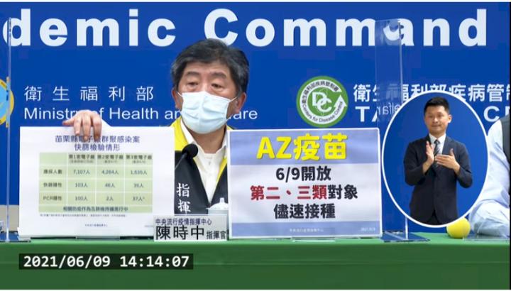 指揮中心指揮官陳時中說明最新疫情。