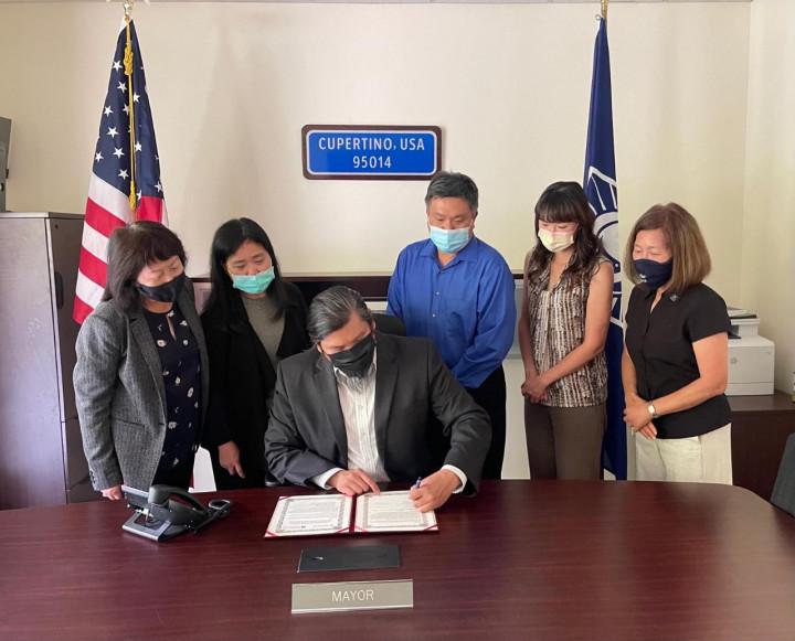 加州庫柏蒂諾市與台灣新北市締結「友誼城市」