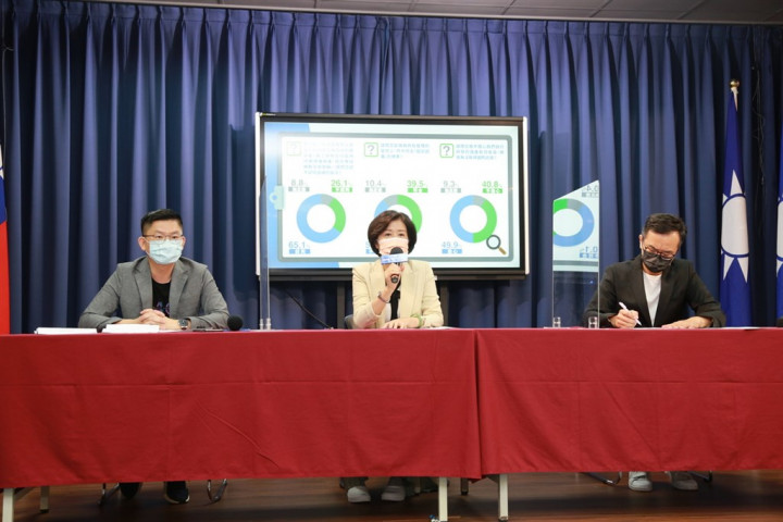 A press conference held by the opposition Kuomintang on Wednesday. Photo courtesy of Kuomintang