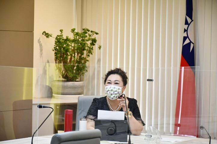 副總會長林淑敏主持線上會議