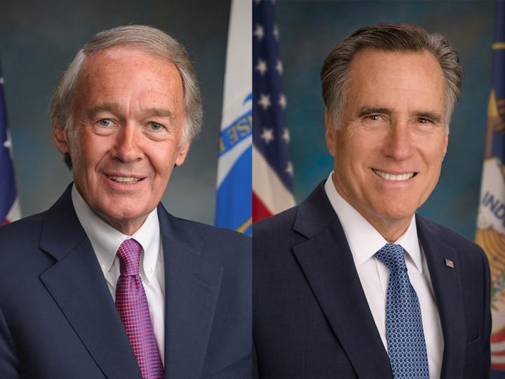 Senators Edward Markey (left) and Mitt Romney. Images taken from senate.gov