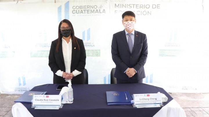 駐瓜地馬拉大使館與瓜國教育部簽署華語教學合作議事錄