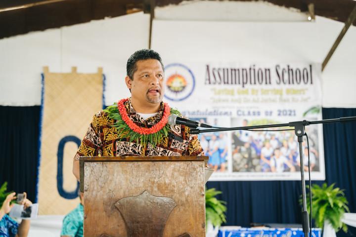 馬紹群島外貿部長Casten Nemra受邀致詞。