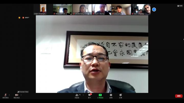 紐約華僑文教服務中心主任陳永豐為活動致詞