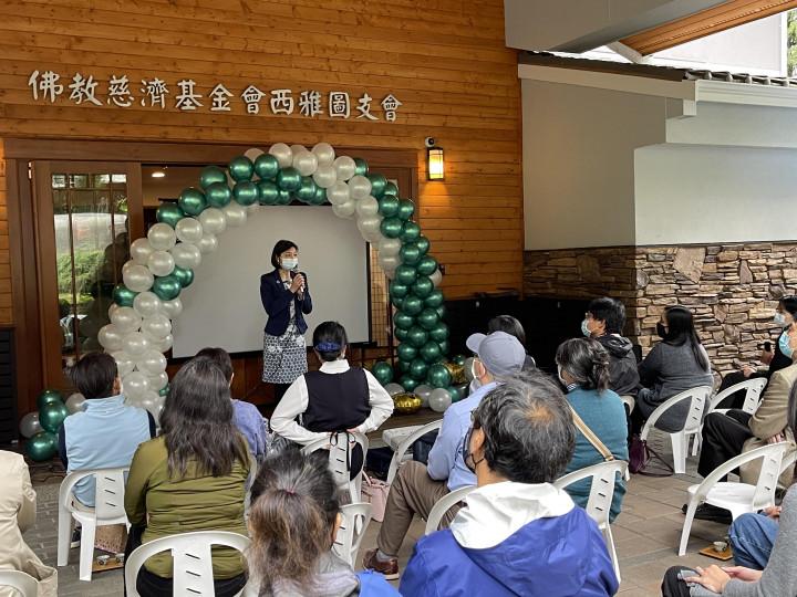 吳曉竹主任致詞勉勵畢業生們