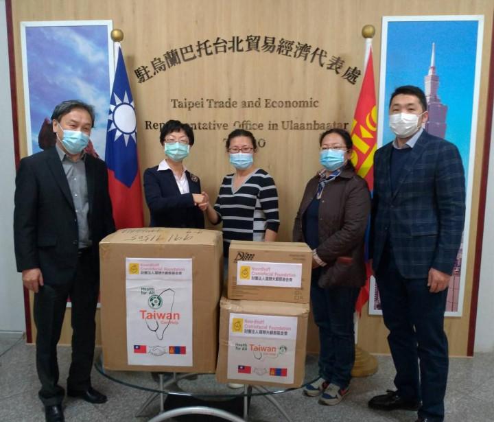 羅慧夫基金會捐贈防疫物資給蒙古國立婦幼醫院。