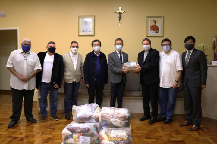 駐聖保羅辦事處捐贈食物籃協助巴西弱勢家庭
