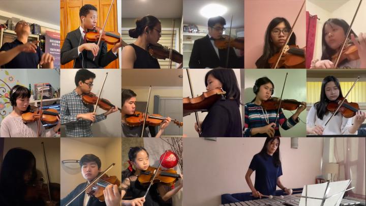 紐約幼獅青少年管弦樂團團員帶來一首首動聽的樂曲