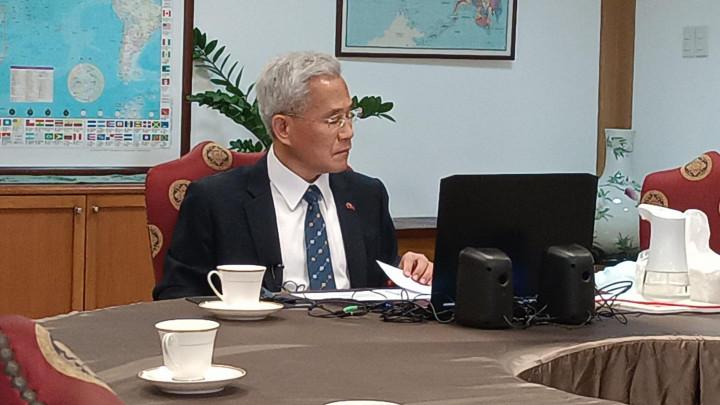 童振源與菲律賓僑務諮詢委員 視訊會議對談