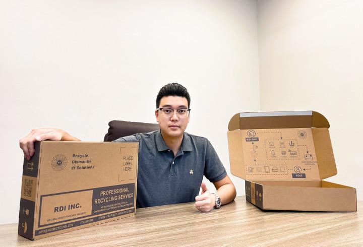 RDI 的資安回收盒: 注重電子產品回收時的資安問題。