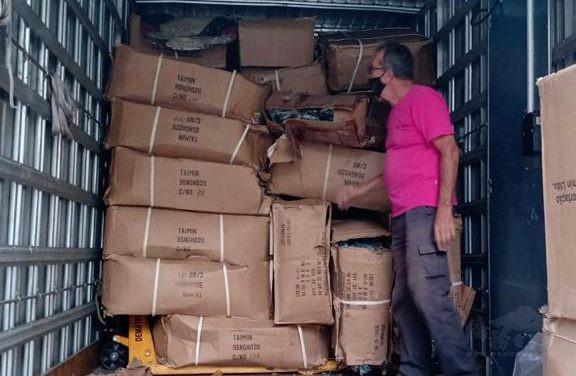 首批禦寒物資送達聖保羅貧困地區。(巴西華人資訊網提供)