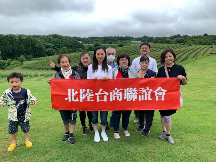島田惠會長(左3)等一行參訪世界農業遺產