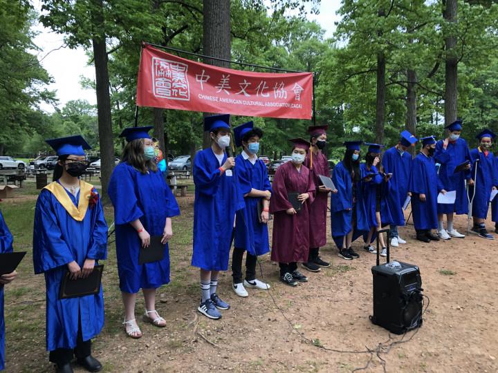 畢業生發表感言。