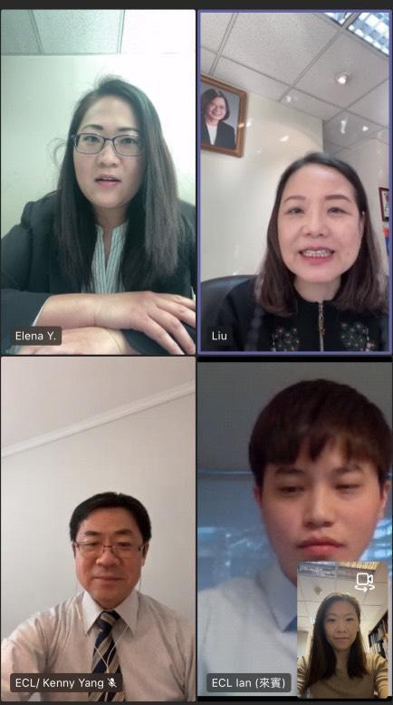 劉聿綺與長榮海運智利分公司視訊 台灣航海王搶進智利