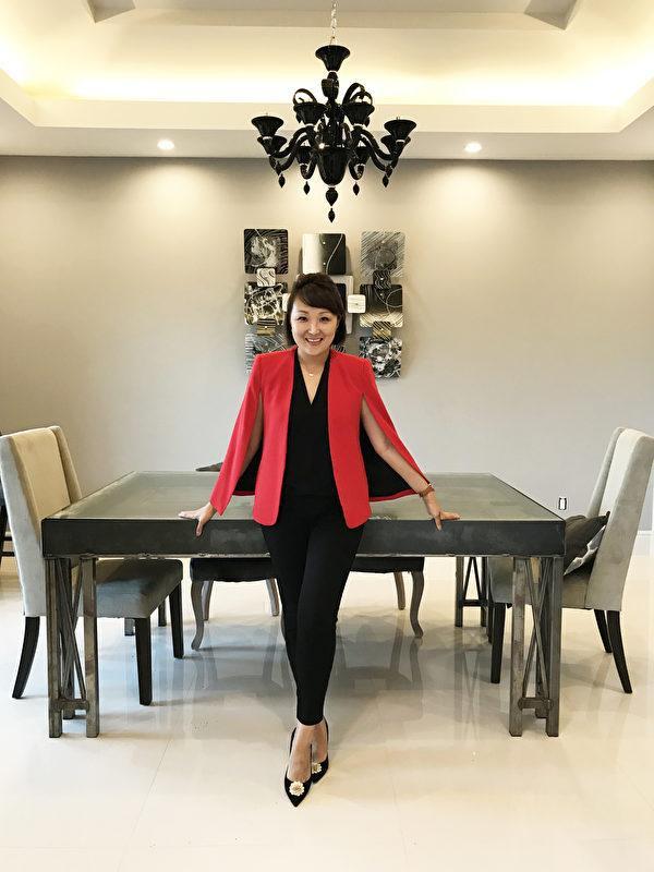 來自臺灣女企業家榮獲僑委會潛力青商之星。(馬永芃提供)