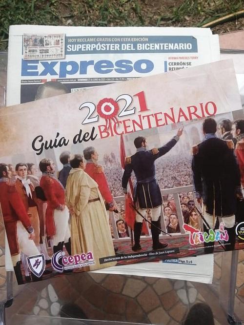 臺灣贊助「秘魯獨立兩百週年協會」製作「人物誌」