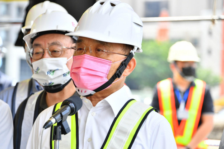 2021年7月17日行政院長蘇貞昌視察竹北嘉豐國小新建工程