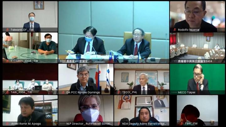 視訊越洋召開「第10屆臺菲農漁業合作會議」,維繫兩國農業合作情誼