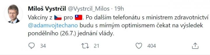 (圖片來源:Milos Vystrcil Twitter)