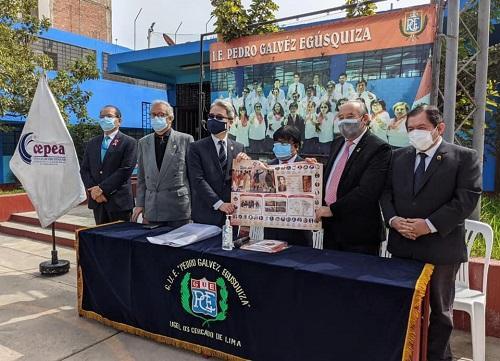 共赴利馬市Pedro Galvéz Egúsquiza及Mariano Melgar等兩所具歷史意義的公立學校致贈師生