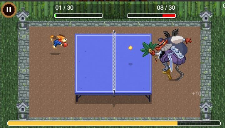 玩家可以在遊戲內和天狗打桌球。(圖取自Google網頁google.com)
