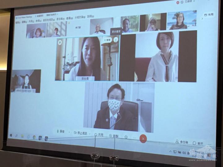 法國等5國僑團負責人視訊會議意見交流情形
