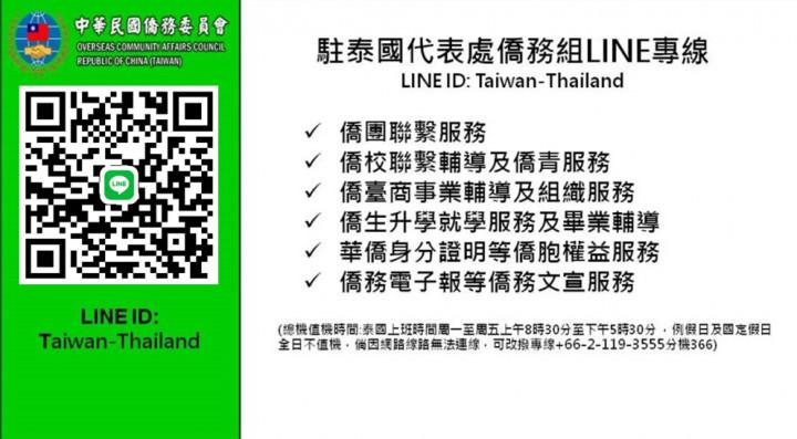 泰國:僑委會@ Thailand 駐泰國代表處僑務組