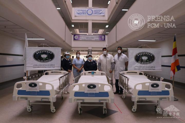 慈濟基金會亞松森聯絡處於今年四月,共募捐了33張病床分送給多所公立醫院,協助解決因疫情升溫導致一床難求的困境