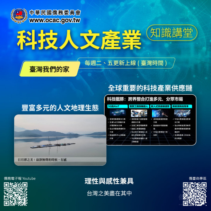 科技人文產業知識講堂-台灣我們的家