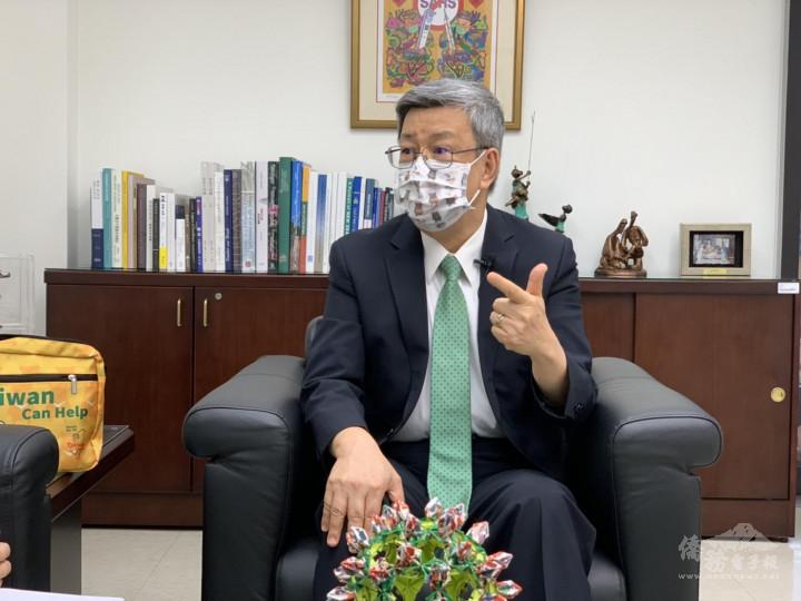 陳建仁強調,「你能打的疫苗就是最好的疫苗」,鼓勵民眾接種疫苗