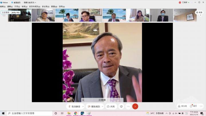 世界臺灣商會聯合總會總會長梁輝騰期許新任亞總總會長和監事長,讓亞總會務蒸蒸日上