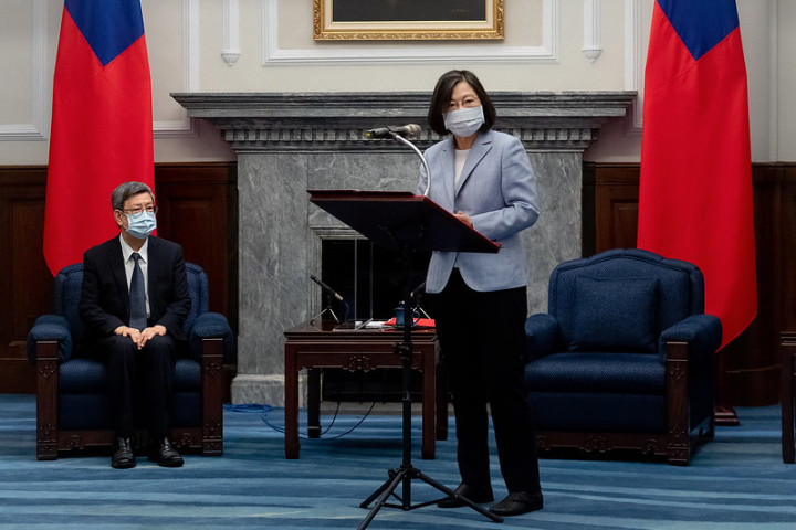 President Tsai delivers remarks when meeting with leaders from the Reform for Resilience Commission's Asia-Pacific Hub.