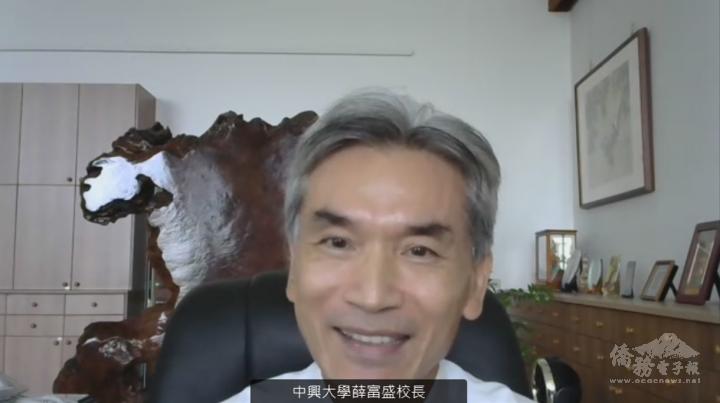 薛富盛期盼透過全球僑臺商在各地的力量,將臺灣學術研發能量擴散到全世界