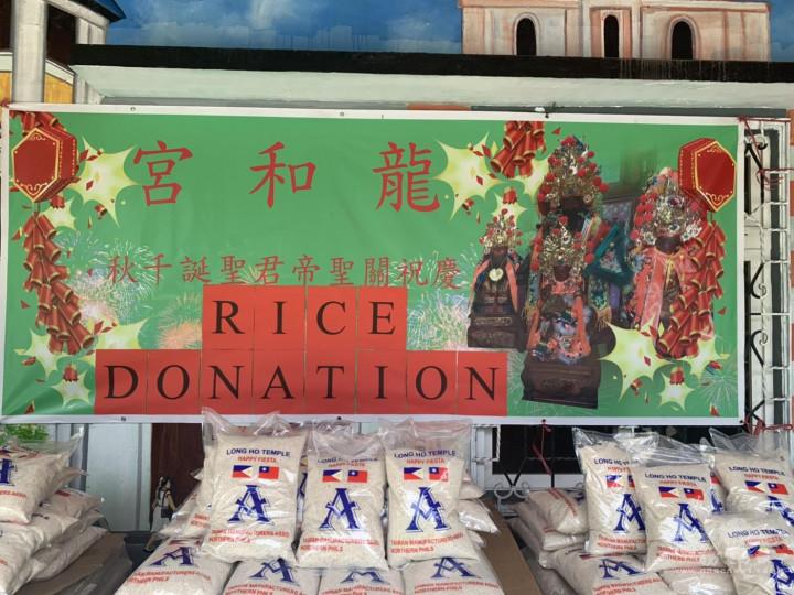 北線臺灣廠商聯誼會捐贈550包白米給Marilao市政府。