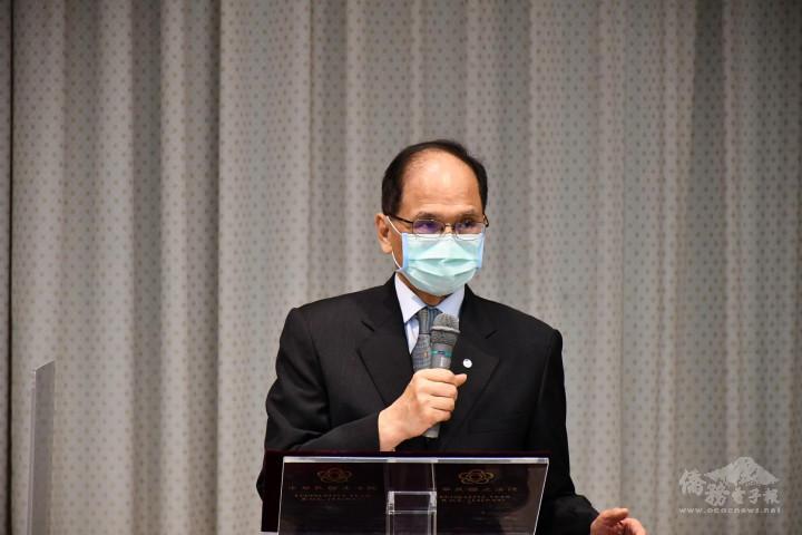 亞洲臺灣商會聯合總會拜會立法院,立法院長游錫堃致詞