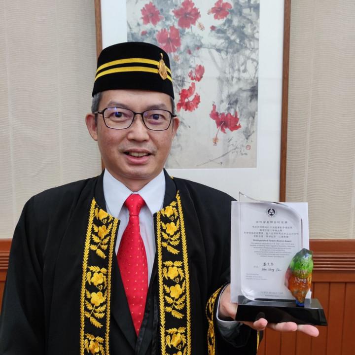 檳州議長拿督劉子健榮獲全球留臺傑出校友獎
