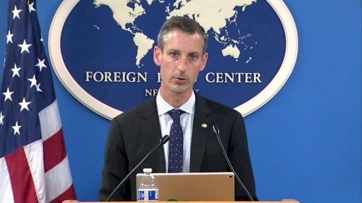 美國國務院發言人普萊斯24日說,台灣是世界貿易組織負責任成員,中國以經濟脅迫他國,相信會對跨太平洋夥伴全面進步協定(CPTPP)評估新成員產生影響。(取自紐約外籍記者中心視訊簡報)