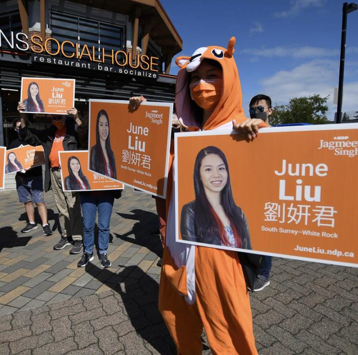 加拿大聯邦大選20日舉行,包括卑詩省劉妍君(圖)在內的2位台裔眾議員參選者雖然落選,但台裔新生代參政潛力已被激發。(劉妍君提供)