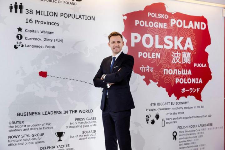 波蘭駐台代表李波表示,台灣未來可透過參與中東歐經濟論壇「三海倡議」,進一步強化與波蘭及亞得里亞海、波羅的海及黑海沿岸國家的合作。(波蘭台北辦事處提供)