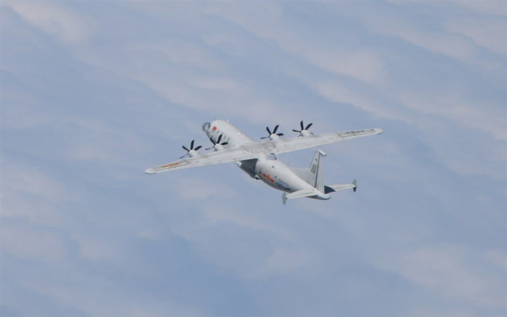 A PLA Y-8 tactical reconnaissance aircraft. Photo courtesy of the Ministry of National Defense