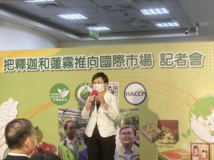 徐佳青呼籲僑胞愛用臺灣農產品