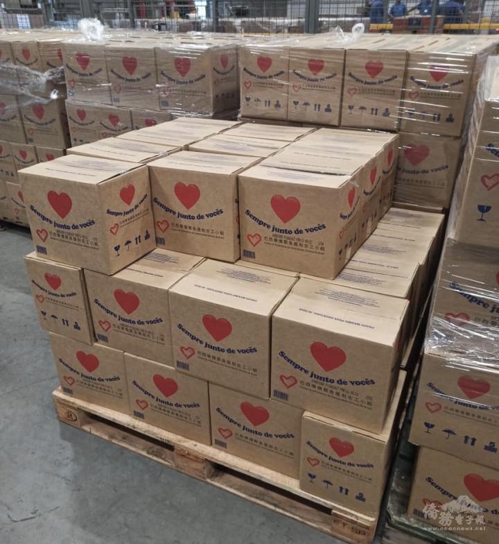 華僑社團長期捐贈食物籃給該區貧困家庭